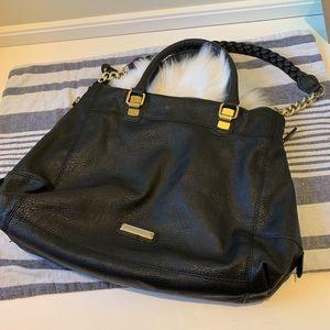 Steve Madden black leather hobo purse bag